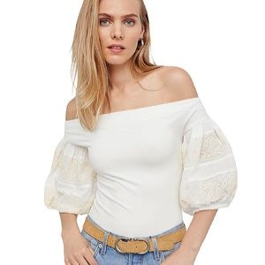 FREE PEOPLE | Rock With It Off Shoulder Blouse Top